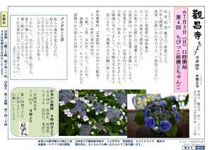 觀昌寺便り No.107 平成28年水無月号 平成28年6月 7月3日 ちびっこ相撲とちゃんこ 開催